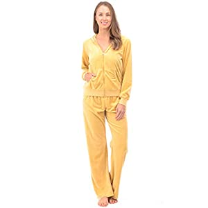 Patricia Lingerie Women's Ultra Soft Velour Tracksuit Sweatsuit – Zip Up Hoodie and Sweatpants for Active or Casual Wear