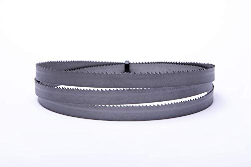 1 hoja de sierra de cinta de alto rendimiento 1335 x 13 x 0,65 mm, 8-12 dientes, bimetal, M42para acero, acero inoxidable, etc.