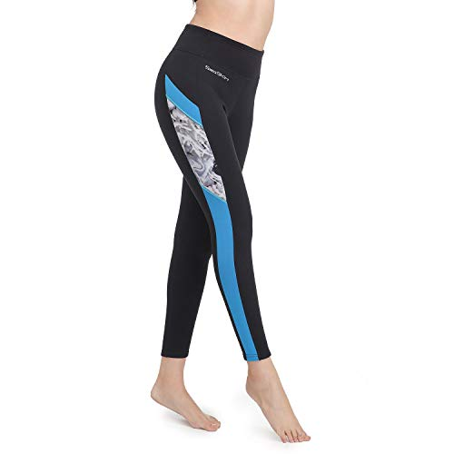 Wetsuit Pants Women Swim Tights 2mm Neoprene High Waisted Outdoor Water Sport Leggings Keep Warm for Surfing Diving Snorkeling Swimming Canoeing Sailing Paddling (New Versions, L)