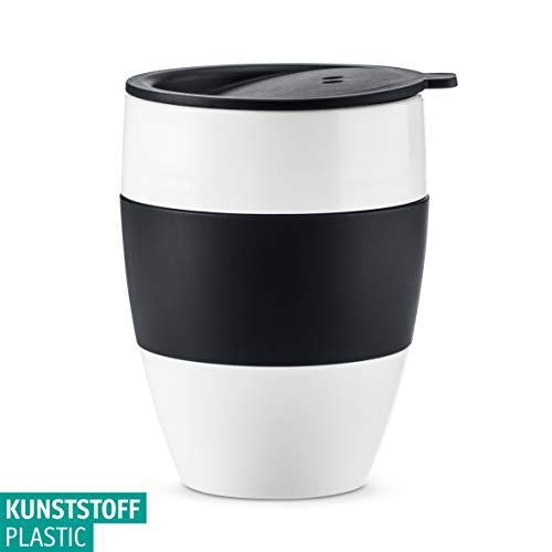 Koziol Unisex – Erwachsene Aroma 2.1 Thermobecher, Thermotasse, Kaffeebecher, Isolierbecher, Coffee-to-go, organic green, One Size