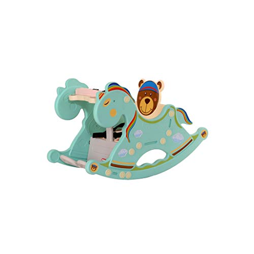 JWDYA Baby Rocking Chair Music Trojan Rocking Horse Toy Children Rocking Horse Gift Swinging Chair (Color : B)