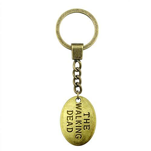 TAOZIAA sleutelhanger 24 x 17 mm antiek brons De veranderende doden sleutelhanger souvenir geschenken voor mannen