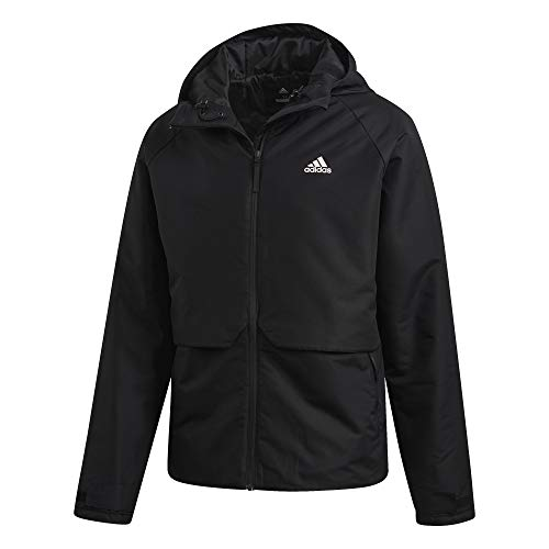 adidas Herren Insulated Hooded Winterjacke, Black, XL