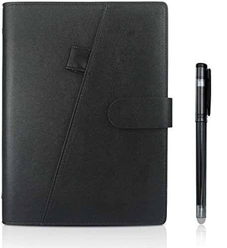 Riutilizzabile Smart Notebook, A5 Cancellabile Taccuino Archiviazione cloud per Alunno Artchitect Giornalista Scrittore(PU-Nero)