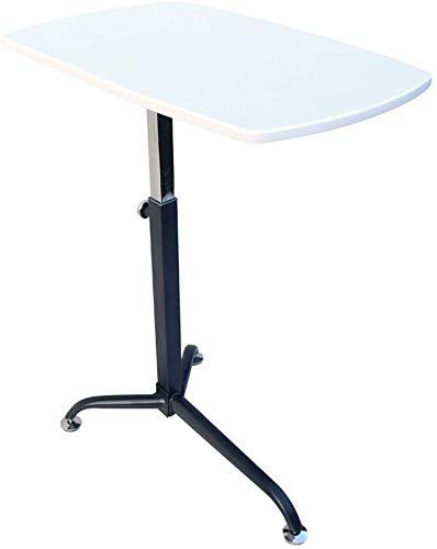 Laptop Schreibtisch Computer Tisch Nachttisch Ständer Höhenverstellbar Tragbar Mobil Abschließbar Stabil, 5 Farben, 62x38cm (Farbe: Weiß)