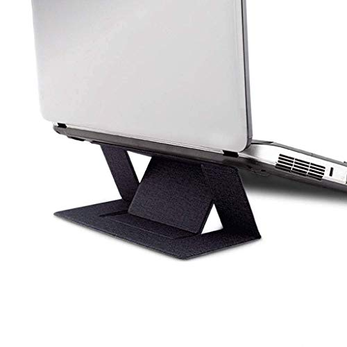 TRYSHA Portable Laptop Stand, Inklapbare Riser Hoogte Folding Ergonomisch Lichtgewicht Base for Home Office slaapbank-grijs Draagbare computerstandaard (Color : Blue)