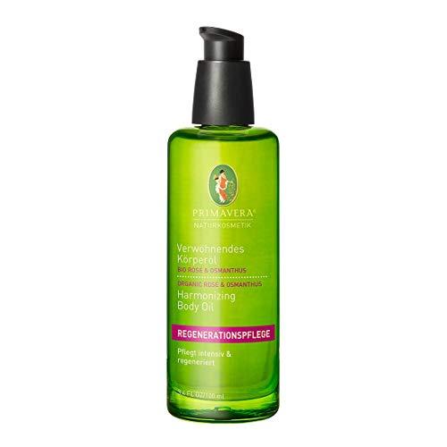 PRIMAVERA Verwöhnendes Körperöl Rose Osmanthus 100 ml - Naturkosmetik - regenerierend, pflegend - vegan