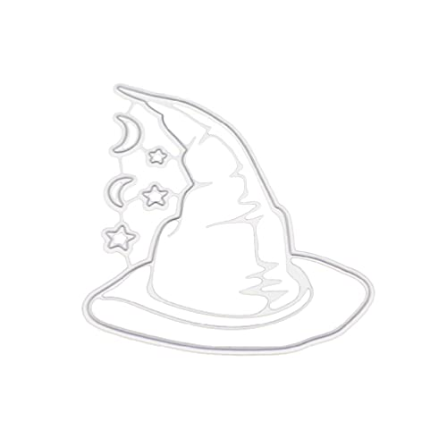 W-LOVE WQIY Die Cut Die Cuts Die Cuts for Card Making Halloween Hat Metal Cutting Dies Stencil DIY Scrapbooking Album Stamp Paper Card Embossing Crafts Decor Paper Card Embossing Decor