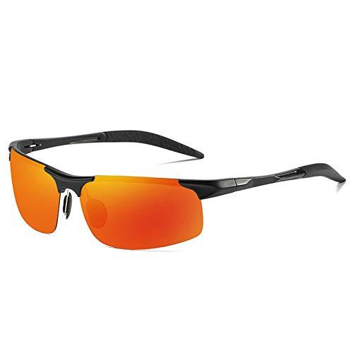 LALB Gafas De Sol, Gafas De Sol Polarizadas para Deportes De Medio Marco De Magnesio De Aluminio para Hombre, Visión Nocturna Día Y Gafas De Sol Polarizadas Nocturnas,J