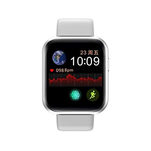 XUEXIU Bluetooth Recargable Bluetooth Smart-Touch Sport Pulsera Fitness Watch (Color : Sliver White)