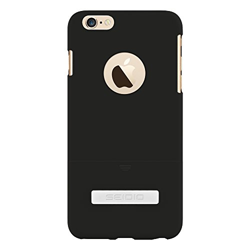 Seidio Surface with Metal Kickstand Case (Black) for The iPhone 6 Plus [Slim & Sleek]