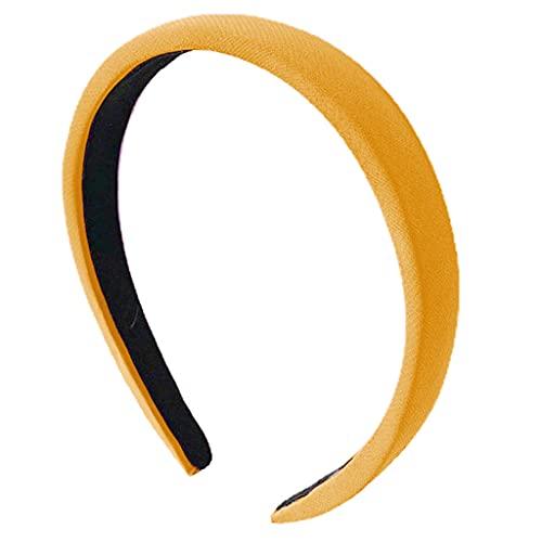 GREEN&RARE Diadema dulce de moda para mujeres y niñas, color sólido antideslizante cabeza Hoop, accesorio antideslizante para el pelo para las mujeres