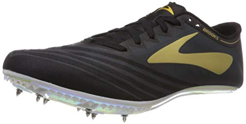 Brooks Qw-k V3, Zapatillas de Running Unisex Adulto, Multicolor (Black/Gold/Iridescent 058), 45 EU