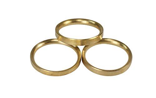iso-design Messing Matt Gardinenringe halbrund mit Faltenlegehaken für 16 mm Durchmesser Gardinenstangen, 10 Stück