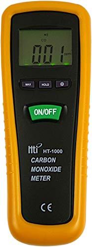 Komerci HT-1000 Digitales Kohlenmonoxid Messgerät 0-1000ppm CO Kohlenstoffmonoxid Warner Melder