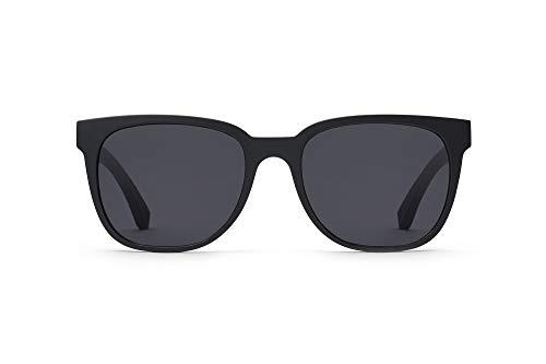 TAKE A SHOT ® gafas de sol masculinas modernas y clásicas, patillas de madera, protección uv, montura sostenible, negro mate - MACK