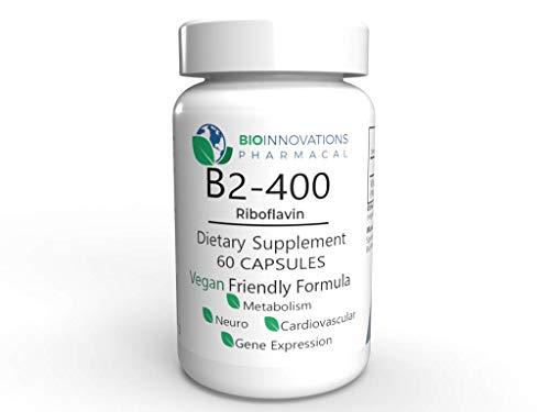 Bio-Innovations Vitamin B2 Riboflavin 400 mg, 60 Vegetable Capsules