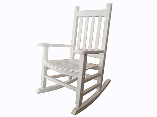 rockingrocker - K086WT Durable White Child's Wooden Rocking Chair/Porch Rocker - Indoor or Outdoor - Suitable for 4-8 Years Old