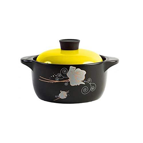 GFDFD Pot à Soupe en céramique Casserole Pot à Lait Utilisation de gaz Pots de Cuisine Pot à ragoût en céramique Cuiseur Pots de Cuisson Set Cuiseur Pot Chaud Soupe Wok (Color : B)