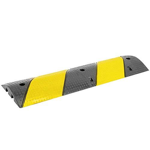 PrimeMatik - Pasacables de Suelo para protección de Cables eléctricos 2 vías 99x30cm y Reductor de Velocidad
