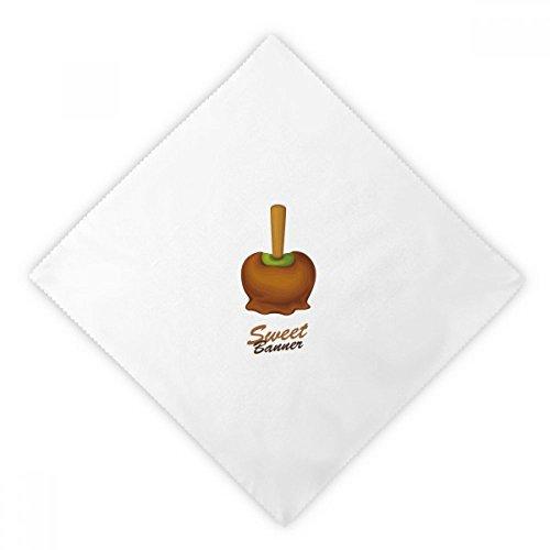 DIYthinker bruin groen chocolade ijs diner servetten lunch wit herbruikbare doek 2 Stks