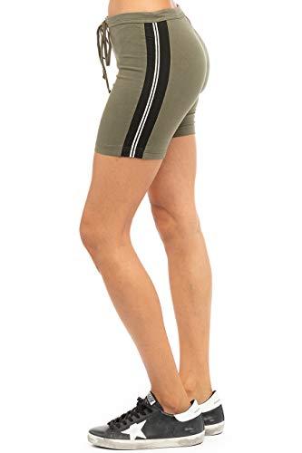 Hard Tail Pantalón corto deportivo con cordón para mujer - verde - M