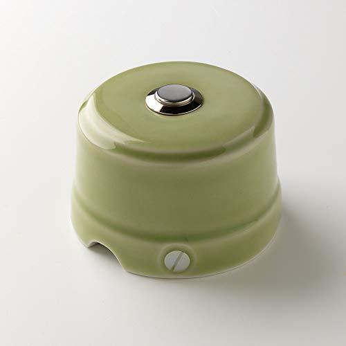 Klartext BELLE EPOQUE - Botón a presión (48 V, porcelana, acabado brillante), diseño vintage, color verde