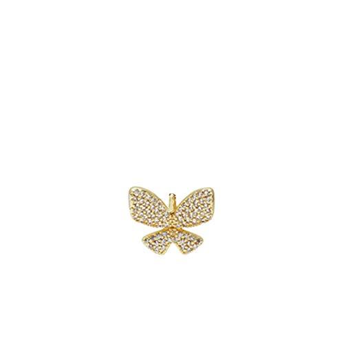 SJHFG Exquisito colgante de mariposa de cristal para hacer collares y pulseras y manualidades para mujeres, cobre, dorado, 1.6cm