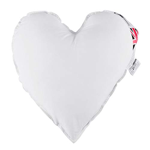 """HOMESCAPES Super Microfibre Heart Cushion Pad 40 cm (16"""") Long Inner Insert Hypoallergenic Synthetic Heart Shaped Cushion Filler Machine Washable"""