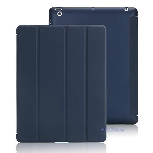 zhishen Funda para iPad 10,2 7 8 Gen Funda para iPad 9,7 2018 2017 Air 1 Pro 10,5 Mini 4/5 Fundas con Soporte de Silicona Suave Inteligente de Cuero-para iPad Azul Oscuro_para Air 3 Pro 10.5in