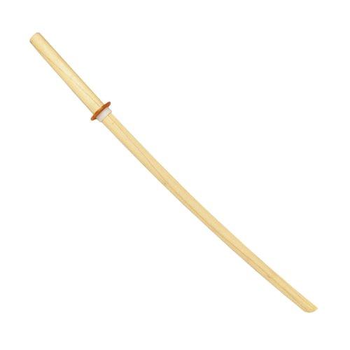 Spada giapponese Bokken, in legno Lunghezza ca. 101 cm Peso ca. 565 g Incl. Tsuba (elsa per protezione mani) Materiale: quercia giapponese/quercia bianca