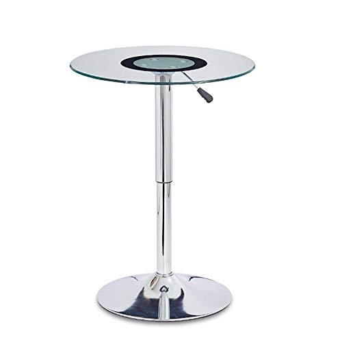 Jcnfa-bijzettafel Lifting Bar Table, Bar Hoog Rond Tafel, Gehard Glas Onderhandelingstafel, Kleine Koffie Tafel, Elektroplaat Chassis