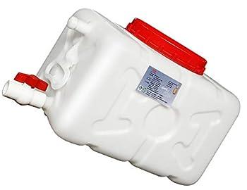 LPLND Jerrican Alimentaire Réservoir de Stockage d'eau à Usage Domestique fûts en Plastique de réservoir Externe Rectangle Blanc épais de réservoir d'eau en Vrac extérieure (Size : 30L)