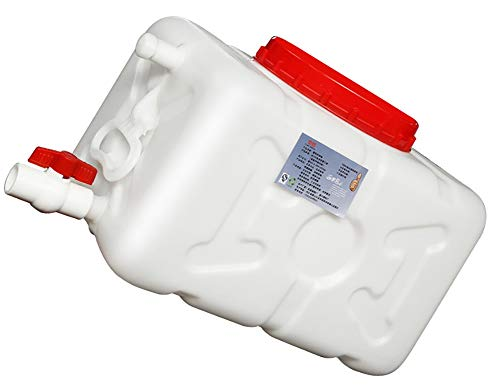 Yimihua Bidones Agua Tanque de Almacenamiento de Agua en el hogar barriles Tanque Exterior Gruesa rectángulo Blanco Mayor al Aire Libre del depósito de Agua de plástico (Size : 100L)