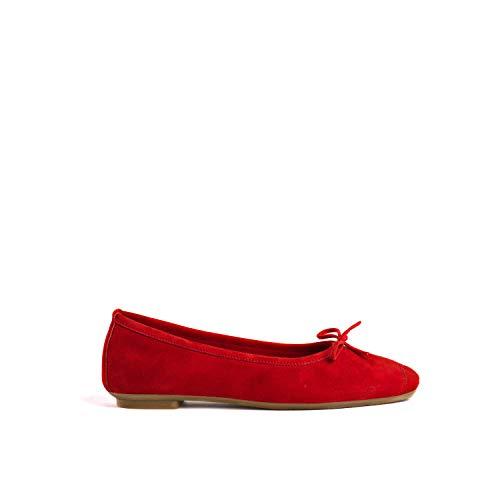 Reqins, chaussures femme, Harmony Peau TT 00051-8D, Rouge, 36