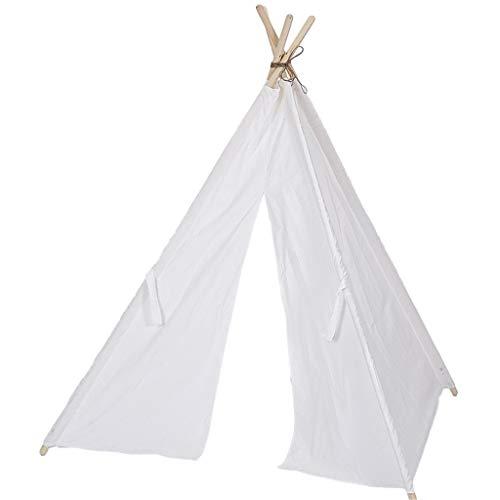 XUZg-wFence XZGang Indian Tent - Blanco, 4-Esquina Interior Carpa Decoración for habitación de los niños, de los niños Estudio de fotografía La fotografía apoya - Tipi Espacio Infantil