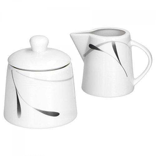Set de décoration pour café avec pot à lait et sucrier en porcelaine blanche