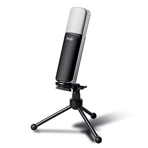 Mugig Microfono Condensador USB para PC Ordenador Portátil con...