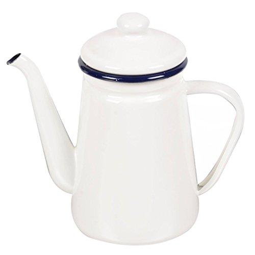 やかん ケトル ih フェスカ コーヒーポット 1.1L ホワイト ホーローケトル