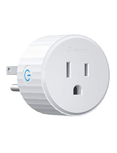 Govee Smart Plug, Mini Smart Outlet WiFi Outlet Works with Alexa and Google Assistant, No Hub Required, Remote Control