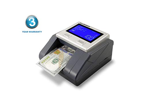 AccuBANKER D585 Multi-Scanix Counterfeit Currency Detector, Multi-Orientation Feeding System, Banknote Verification, Multi-Currency Detection (USD, EUR, GBP), Visual and Audible Alerts (Renewed)