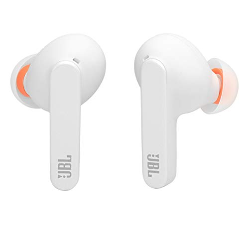 JBL Live PRO+ TWS True Wireless in-Ear Noise Cancelling Bluetooth Headphones, Up to 28H of Battery, Microphones, Wireless Charging, Hey Google and Amazon Alexa, iOS and Optimized by Android (White)