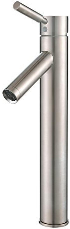 Kraus FVS-1002SN Sheven Single Lever Vessel Bathroom Faucet Satin Nickel by Kraus