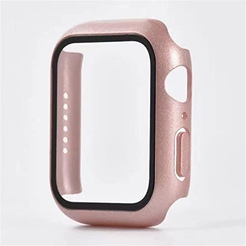 LASULEN para Apple Watch Series 7 Estuche Protector De Vidrio Templado Iwatch Cover 41 / 45mm