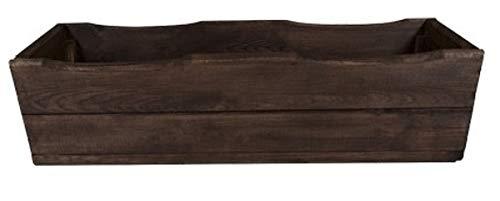 D8, Jardinière en bois de grande qualité pour jardin et terrasse, déjà montée, en palissandre 64 cm Bois de palissandre