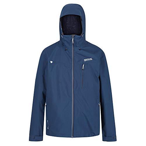 Birchdale Wasserdichte und atmungsaktive Shell-Stretch-Jacke mit Kapuze und Hi-Tech-Reißverschlusstaschen, Medium