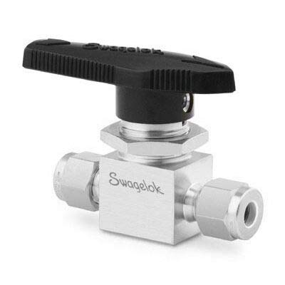 Swagelok (Whitey) SS-43S6-K Ball Valve, (2-Way), 3/8 in. Tube : OD Compression, 3,000 psi, Nylon Oval Handle, 316 Stainless