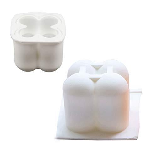 1 Stück Kugel Würfel Kerzenformen Handgemachte Formen mit Mehreren Kugelkerzen für Kerze Dekorationen Soja Wachs Handgemachte Seife