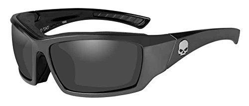 HARLEY-DAVIDSON Wiley X TAT Silver Flash Motorrad Brille