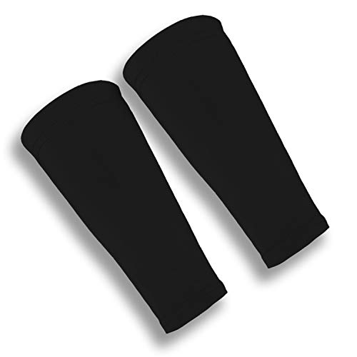 iM Sports ATTACKER Volleyball Forearm Compression Sleeves + Unisex + Made in USA - Black - X-Large / XX-Large - (pair of volleyball forearm sleeves)